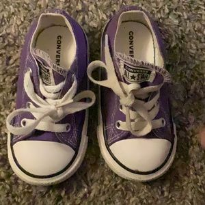 Adorable purple converse sneakers